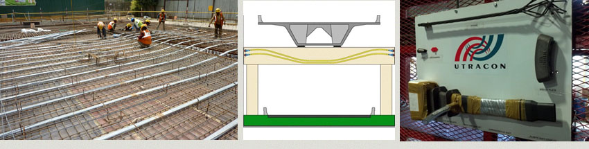 Bonded Post Tensioning : Utracon structural systems types of post tensioning